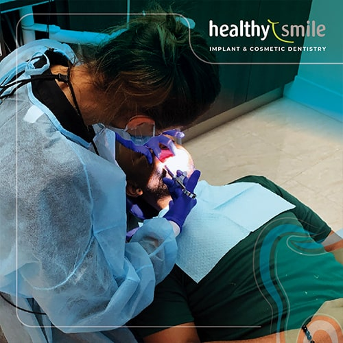 Healthy Smile patient in dental office